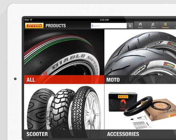 Pirelli B2B iPad App